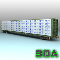 Railroad centerbeam flatcar F483 CP