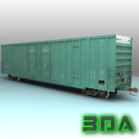 Railroad boxcar A606 LW