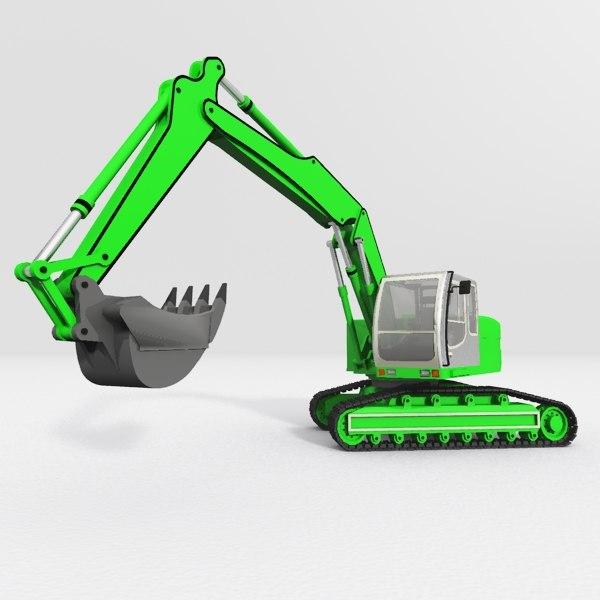 3d max excavator construction m