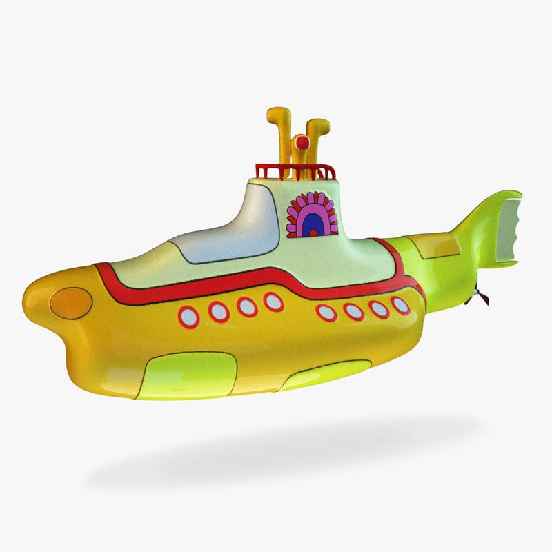 yellow submarine obj