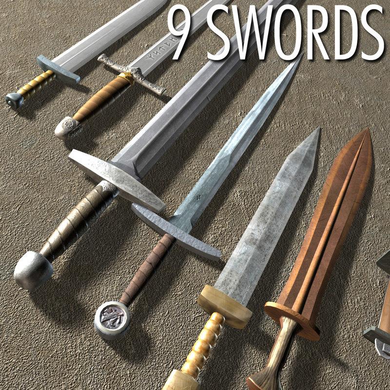 set swords 3d model