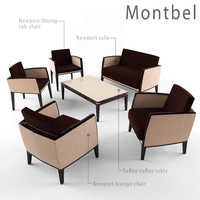 3d model montbel furniture set sofa chair