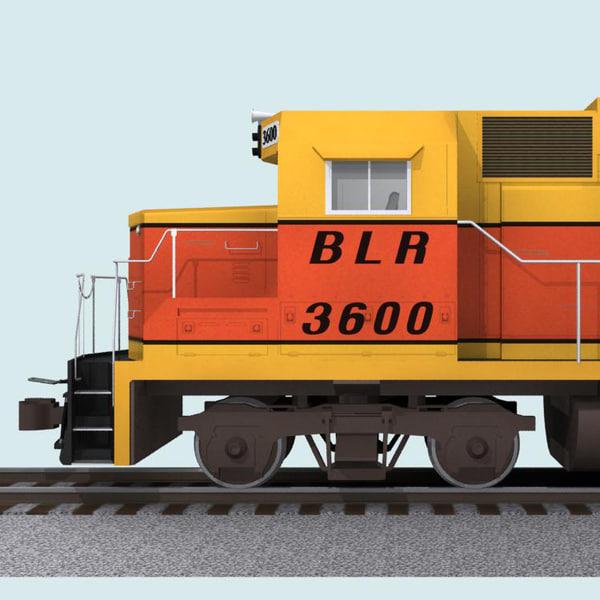 3d train car b-line railroad