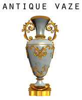 3d model antique baroque vaze