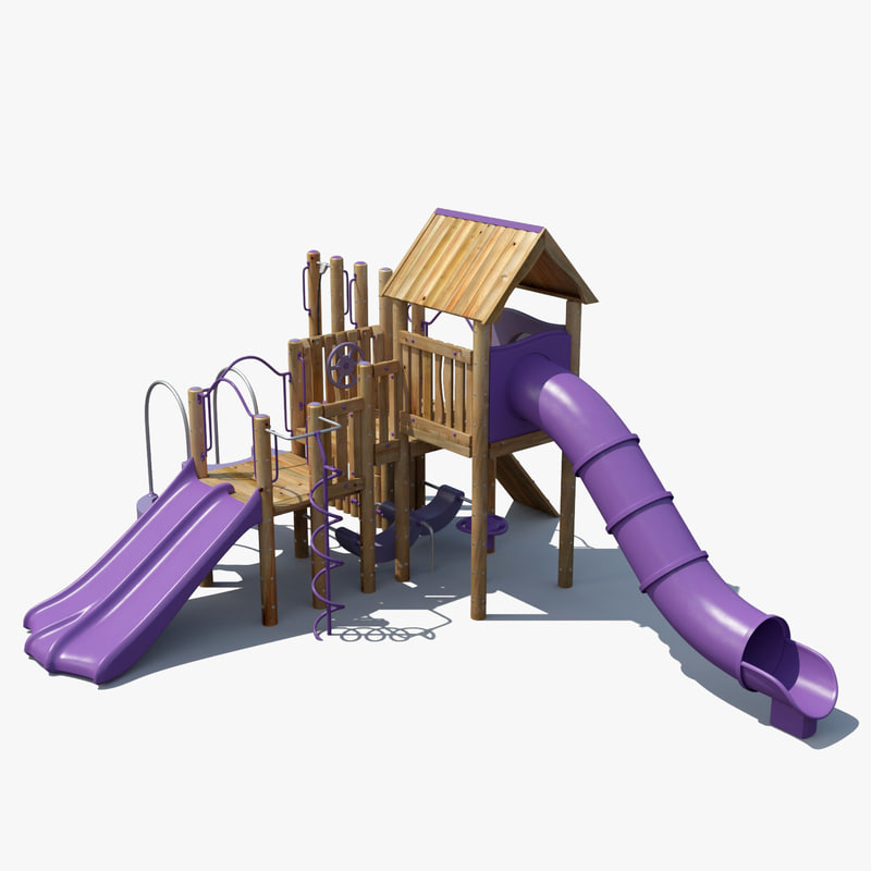 Large Outdoor Toys : Big toys playground d model