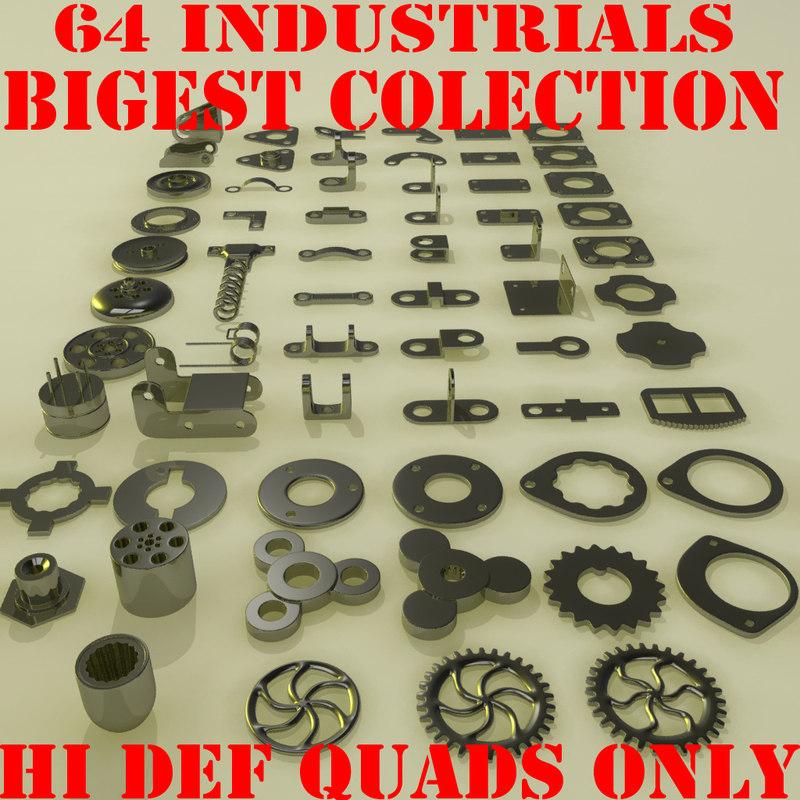 3ds industrial wheel set