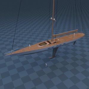 3d model sailboat