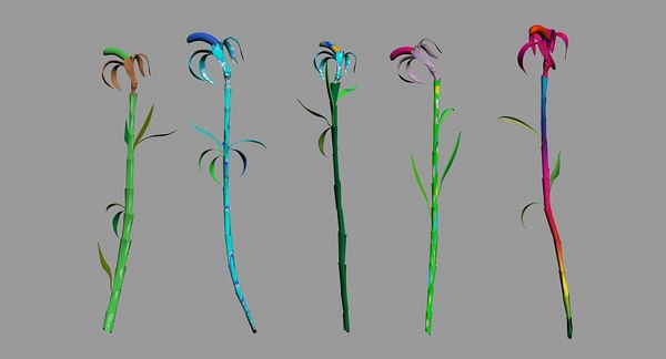 free flowers lily 3d model