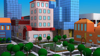 Cartoon City Mental ray