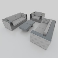 Sofa set mirror edge