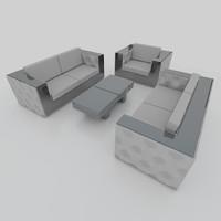 3d model sofa set