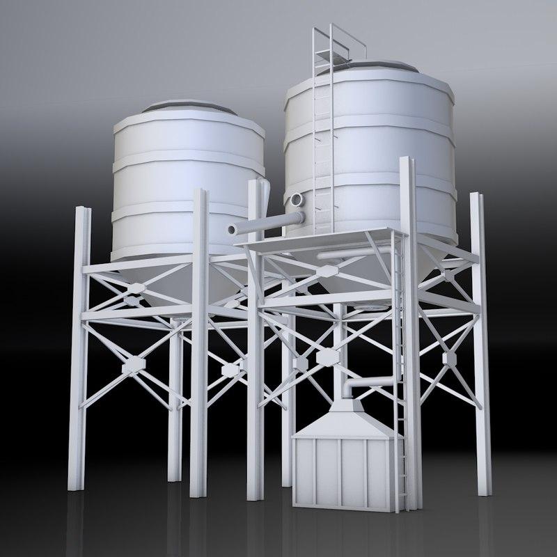 water tank 3d obj