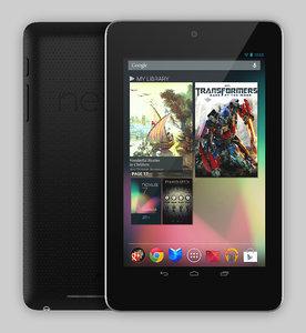 google nexus 7 tablet 3d model