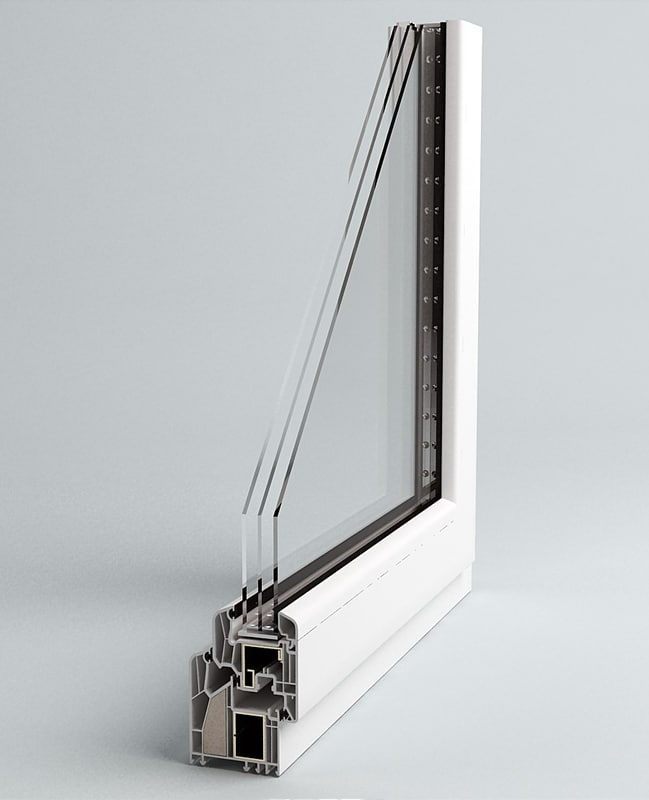 3d window section