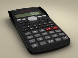 casio scientific calculator 3d c4d