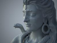 3d max lord shiva statue