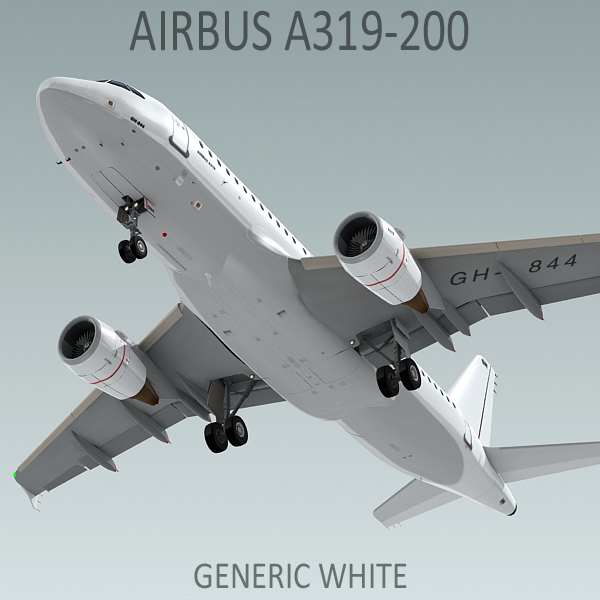a319 generic white 3d 3ds