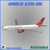 3d model airbus a330-300