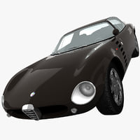 alfa romeo 1600 gtz 3d model