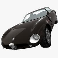 alfa romeo 1600 gtz 3d model