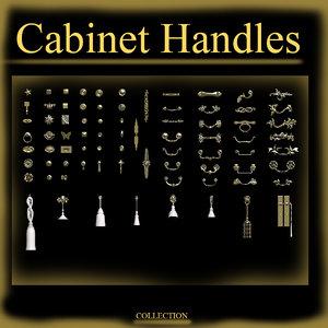 cabinet hardware 3d fbx