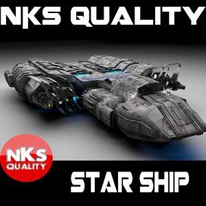 3d model spacecraft ship star
