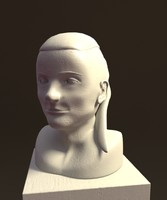 3d model bust female head