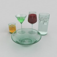 3d set glass model