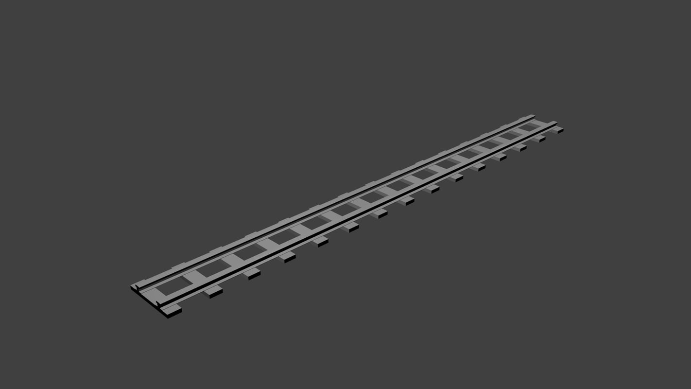 3d model simple train track
