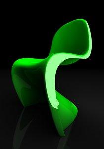classic chair panton 3d model