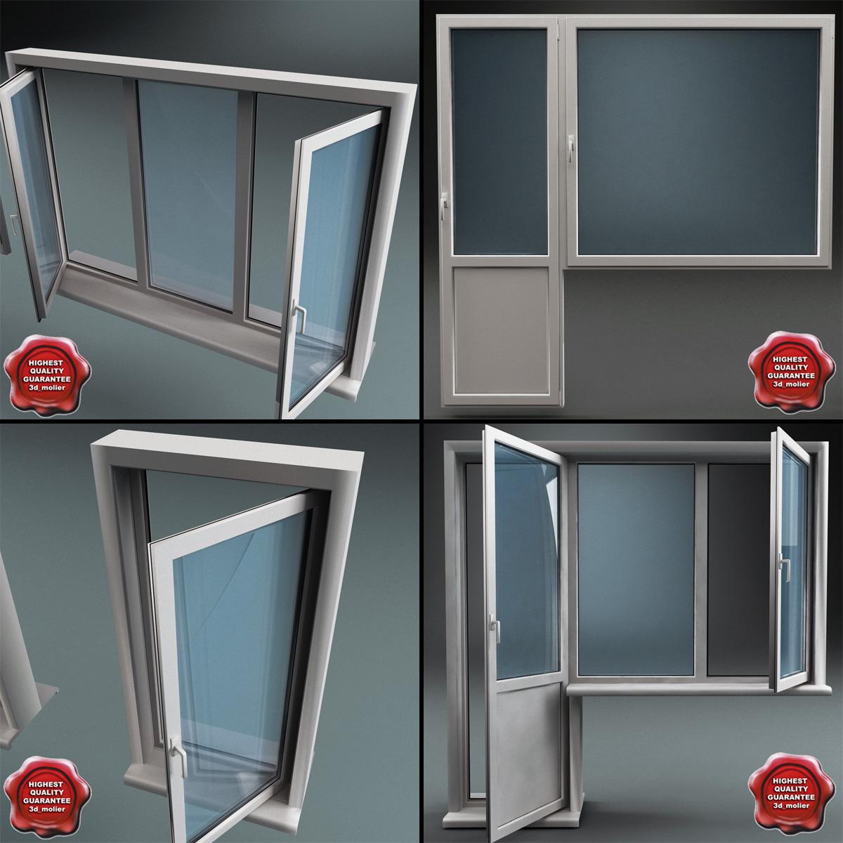 Модели пластиковых балконных дверей..