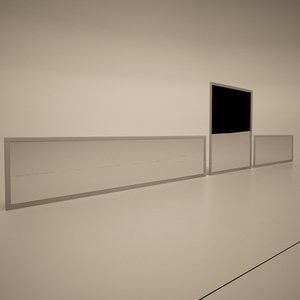 3ds max cattelan italia simplex wall mirror