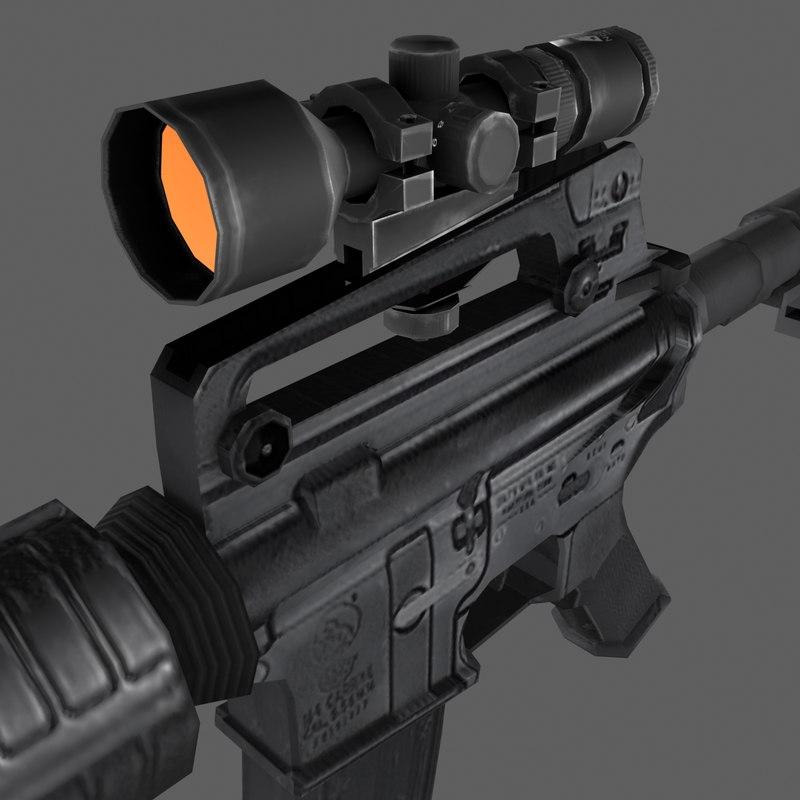 3d ncstar m4 carbine weapon