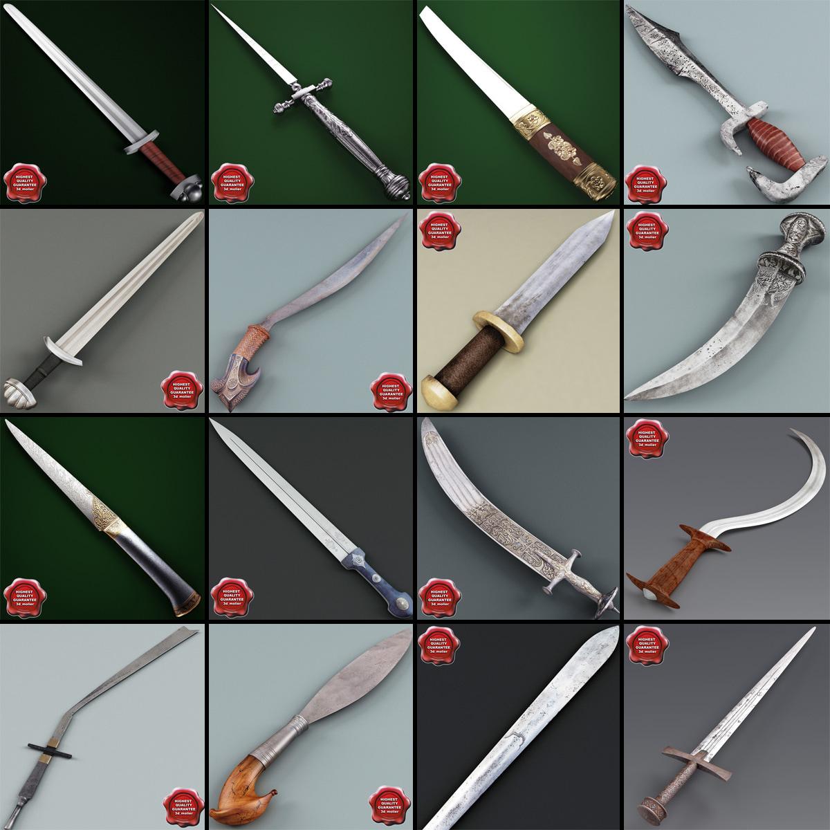 swords v6 3d model