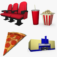 movie theater 3d max