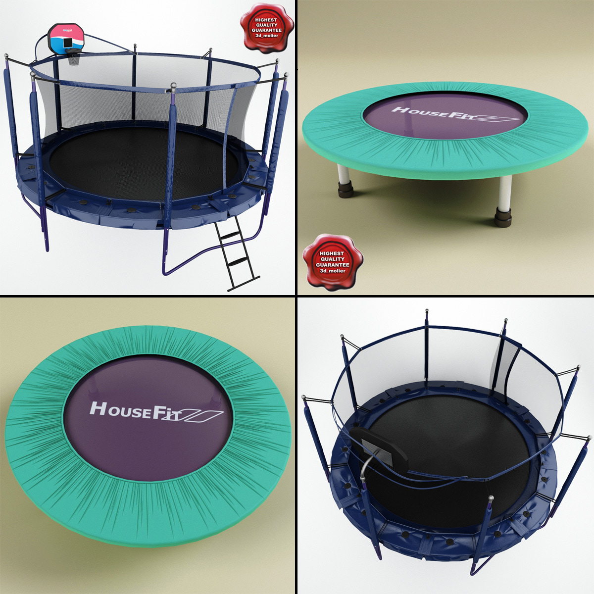 3d trampolines modelled jumpsport