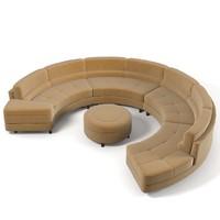 Wasser Round Sectional sofa L