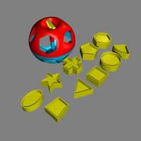 shape-o ball baby toy 3d model
