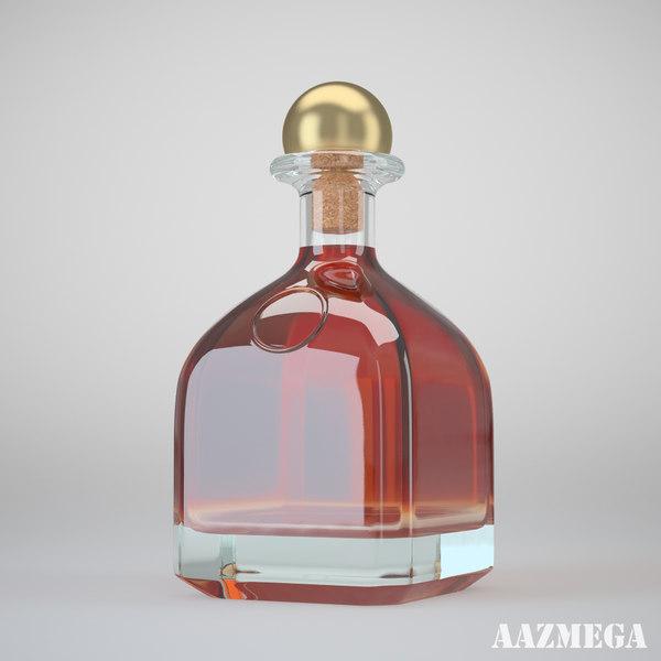 bottle whisky 3d max