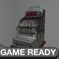 vintage cash register 3d obj