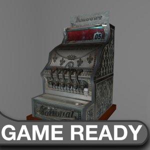 vintage cash register 3d obj