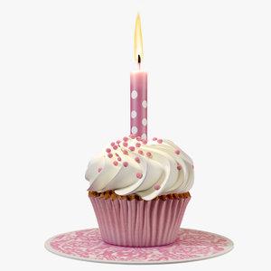 small cake candle cream max