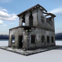 ruin building 3d lwo