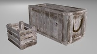 contains crate 3d model