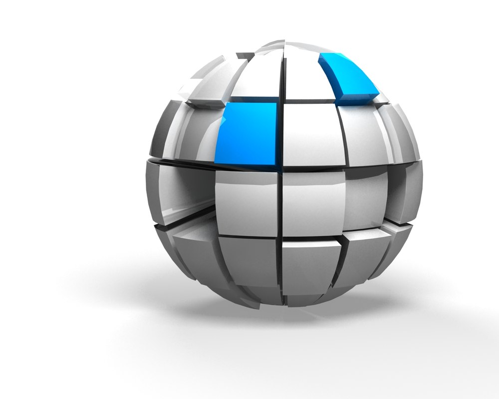 3d model sectioned sphere