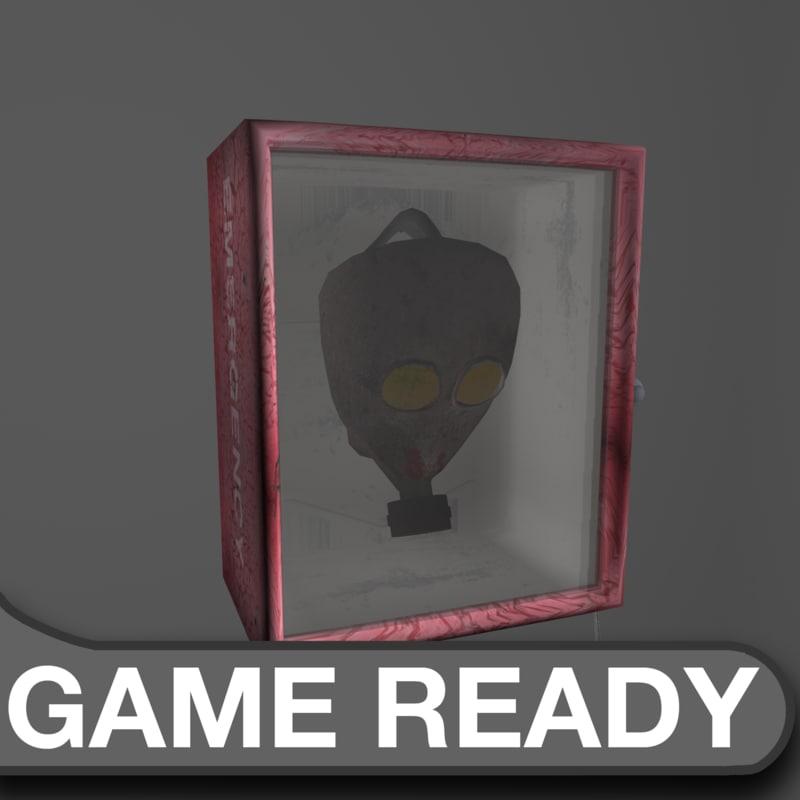 3d model pack emergency box gas mask