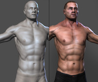 Muscled lowpoly Male character