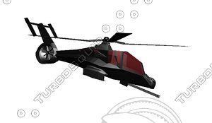 3dsmax black hawk helicopter stealth