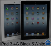3d model apple ipad 3 wi-fi