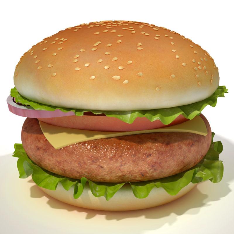 3d burger